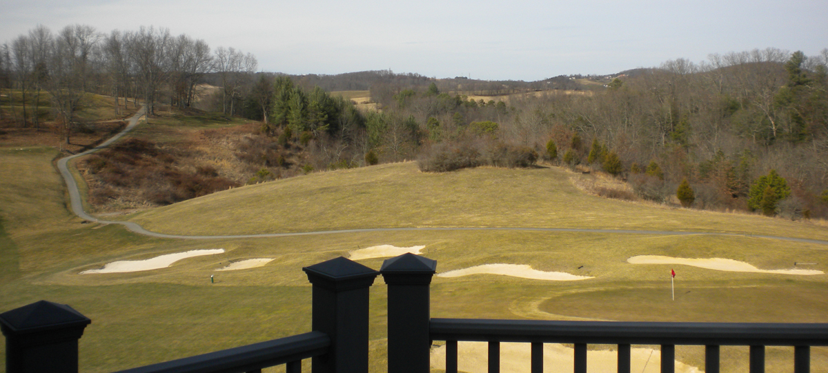 Homes on the golf course in Riner VA