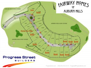 Fairway Homes 'Plat' of neighborhood lots