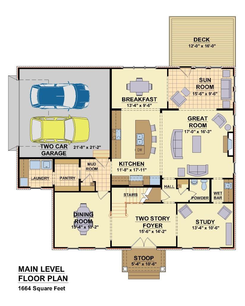 4565 Chowning Trail, Blacksburg,  VA. - First Floor Plan