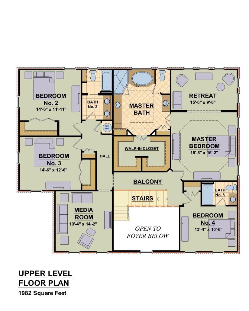 4565 Chowning Trail, Blacksburg,  VA. - Second Floor Plan