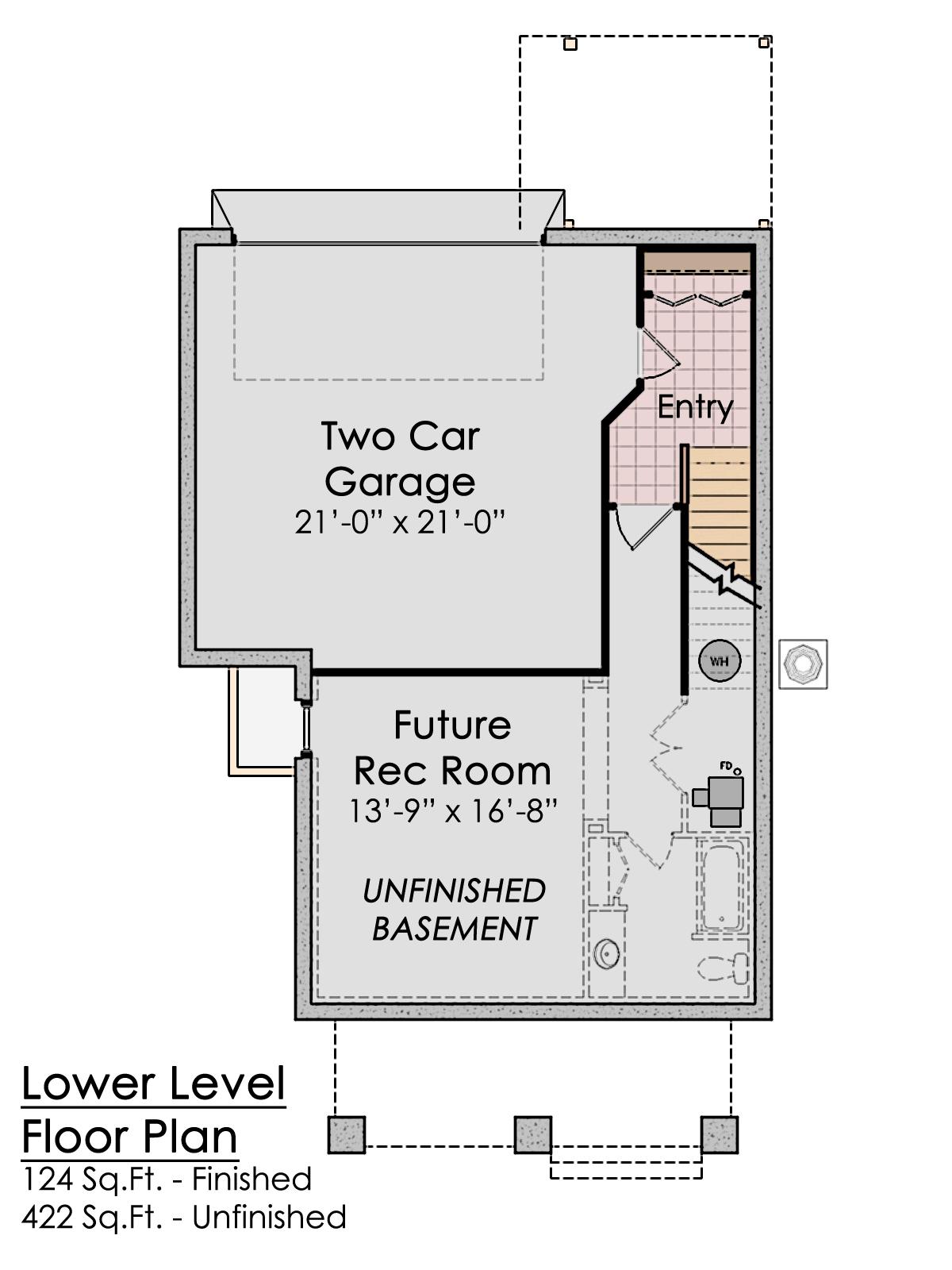 1812 Honeysuckle - Lower Floor & Garage